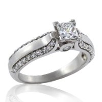 .90ct. tw 19k Canadian Diamond Engagement Ring