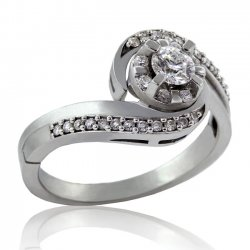 .41ct. tw 14k Canadian Diamond Halo Twist Engagement Ring