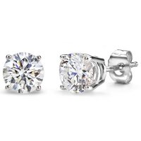 .66ct tw Round Brilliant Diamond Studs