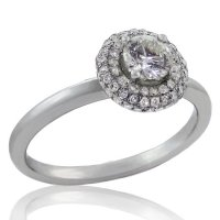 .54ct. tw 14k Halo Style Diamond Engagement Ring