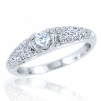 .25ct tw. Diamond Heart Engagement Ring