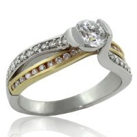 .82ct. tw 14k Two Tone Canadian Diamond Engagement Ring