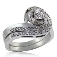 .49ct. tw 14k Canadian Diamond Halo Twist Engagement Ring Set