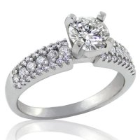 1.09ct. tw 14k Fancy Band Diamond Engagement Ring