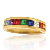 Princess Cut Family Ring Band