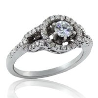 .49ct. tw 14k Buckle Style Diamond Engagement Ring