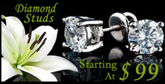 .33ct, .50ct and 1.00ct diamond studs on sale
